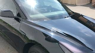 Tesla model 3 chrome delete and ceramic coating done at Kars kustoms