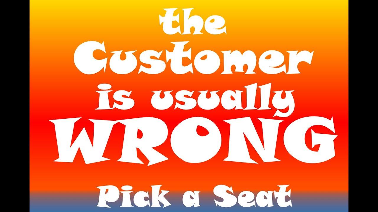 Customer Wrong: S1E14 Pick a Seat