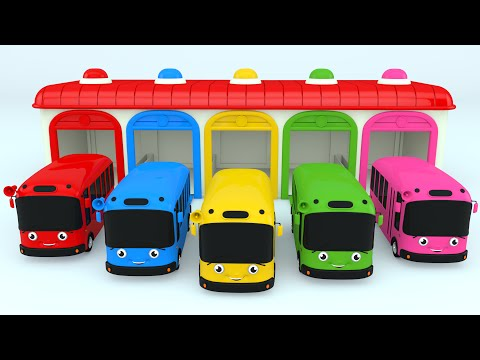 Thumbnail: Colors for Children to Learn with Color Bus Toy - Colours for Kids to Learn - Learning Videos