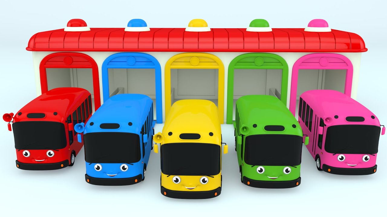 Colors For Children To Learn With Color Bus Toy Colours