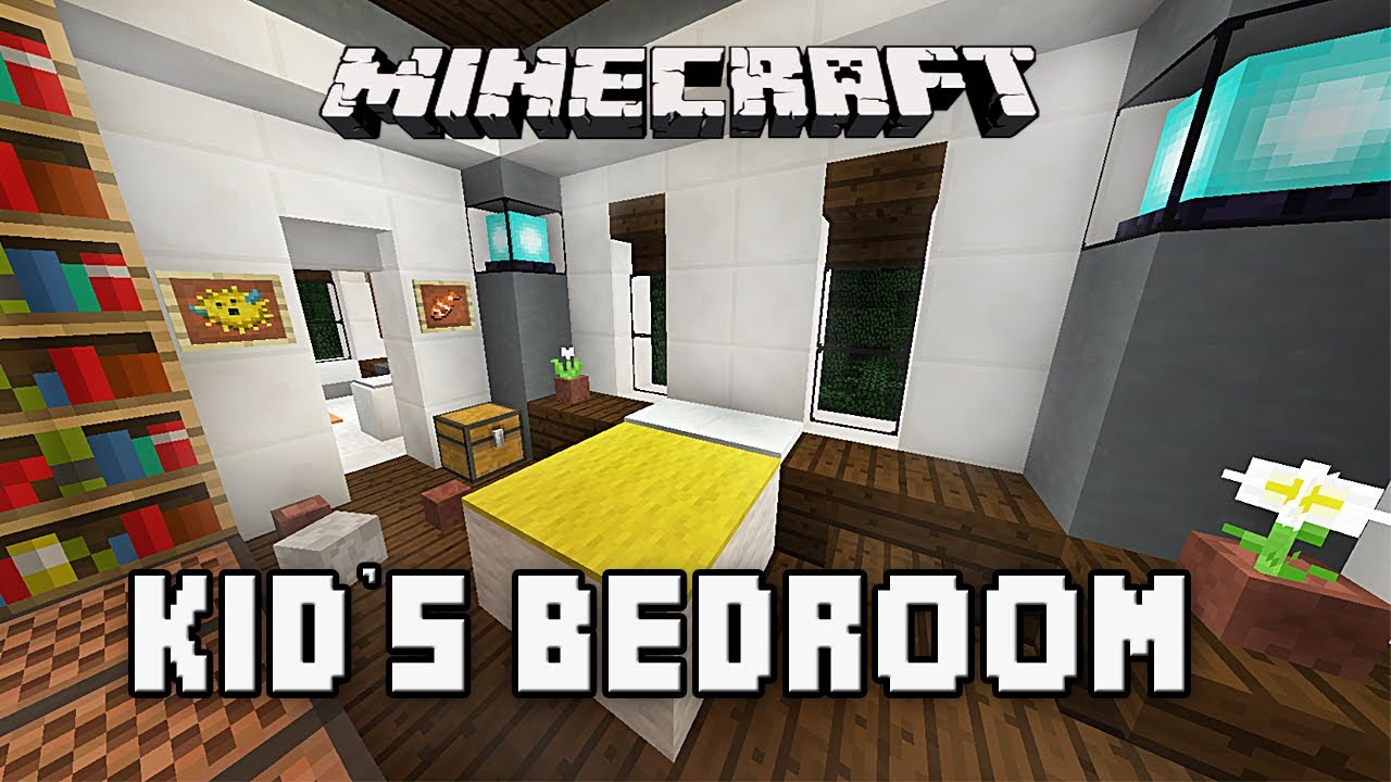 Minecraft Kids Bedroom Minecraft Tutorial How To Build A Modern House Ep6 Bedroom