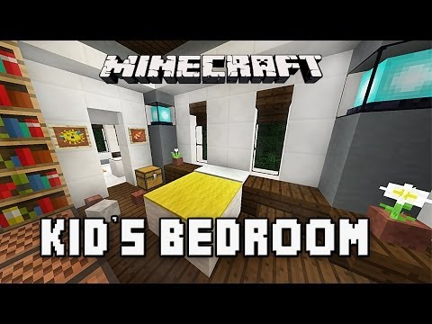 Minecraft Tutorial: How To Build A Modern House Ep.10 (Kids Bedroom Furniture Design Ideas)