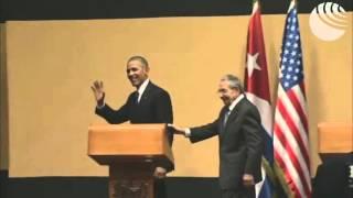 Барак Обама и Рауль Кастро