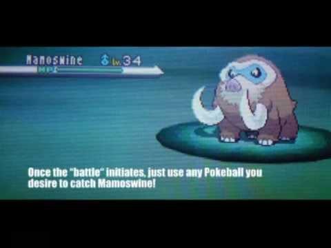 pokemon white 2 how to get mamoswine