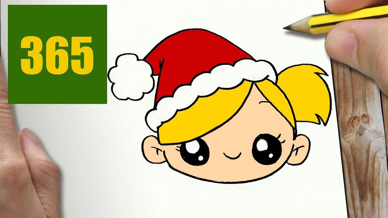 Comment dessiner fille de no l kawaii tape par tape - Fille facile a dessiner ...