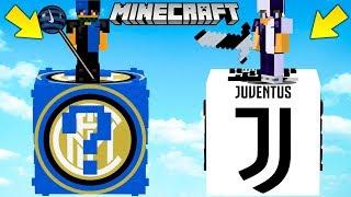 INTER vs JUVENTUS !! - Sfida con i LUCKYBLOCK GIGANTI - Minecraft ITA