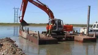 Прокладка подводного кабеля ВОЛС через реку Томь