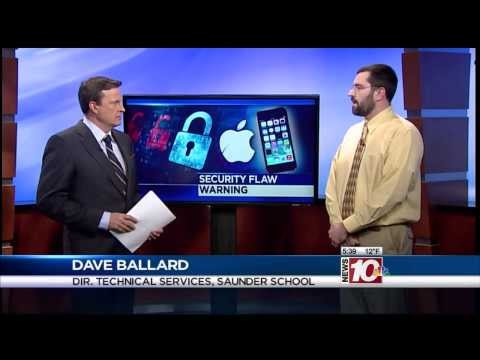 RIT on TV: Saunders expert on Apple security flaws - on WHEC
