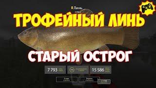 Русская Рыбалка 4 ТРОФЕЙНЫЙ ЛИНЬ старый острог