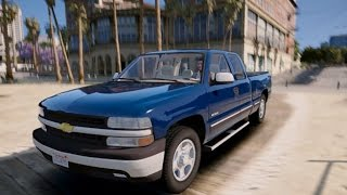 Grand Theft Auto 5 - 2000 Chevrolet Silverado 1500 Mod! - REVIEW - GTA 5