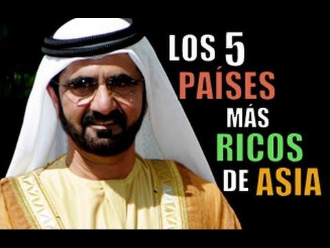 LOS 5 PAÍSES MÁS RICOS DE ASIA