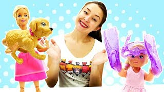 Барби и Штеффи собираются в отпуск! Видео для девочек - Одевалки