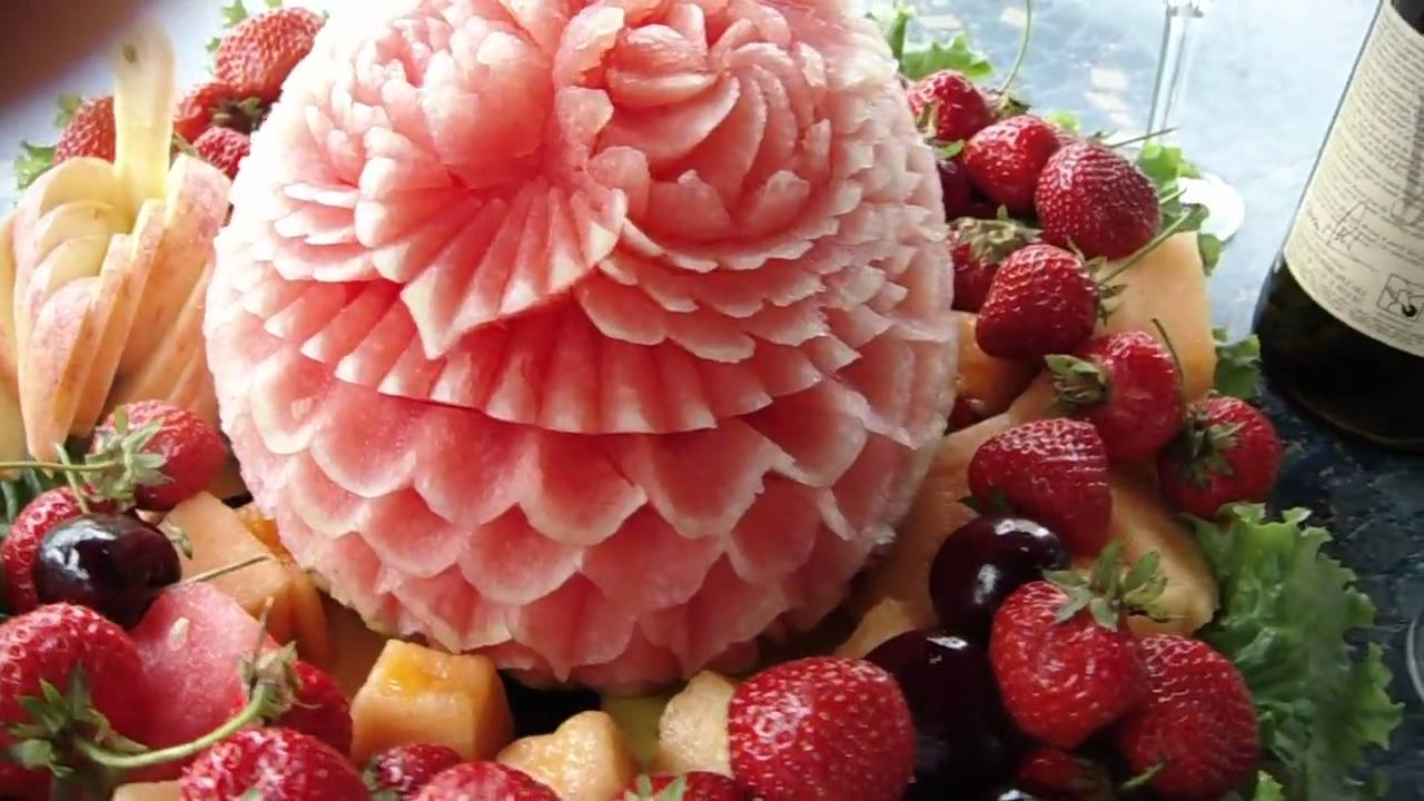 Decorative Fruit Tray 02 By Chef Artist Koy Touch Youtube
