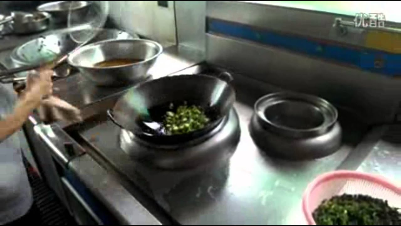 商用電磁爐炒菜爐 電熱炒菜鍋 - YouTube