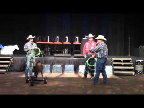 Cactus Ropes Pro Talk  Cesar de la Cruz and Clay O'Brien Cooper  NRS at the 2013 NFR