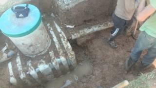 Демонтаж септика ТАНК для установки автономной канализации БИО СТОК(, 2016-05-30T13:12:57.000Z)