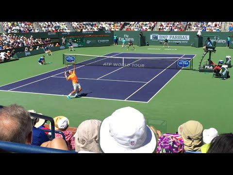 Roger Federer vs Milos Raonic BNP Paribas Open 2015 Semifinal Highlights Courtside HD