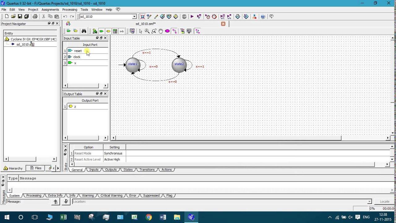 State Diagram Simulation Using Quartus 2  Solved Top Level
