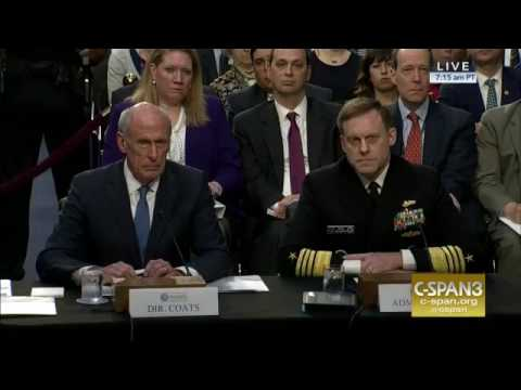 2017 06 07 US AG Rosenstei DNI Coats, NSA Rogers, FBI  McCabe asked before Comey testify on Trump