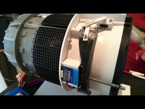 3D Printed Cascade Thrust Reverser Test