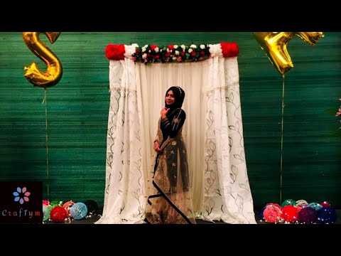 i-did-a-stage-decor-for-a-wedding-reception.....diy-stage-decoration-using-pvc-pipe😍