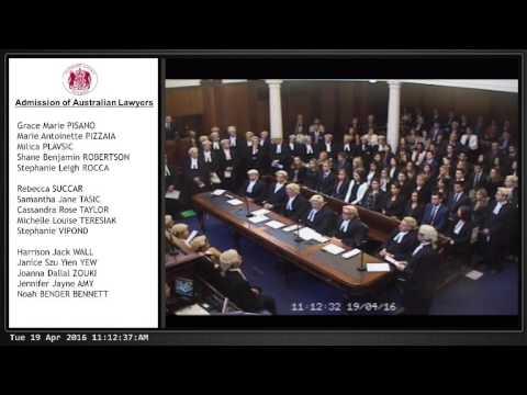 Admission Of Australian Lawyers
