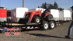 Loading a Tractor on a PJ Tilt Trailer