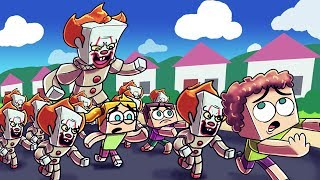 Minecraft | PENNYWISE CREATES A HORDE OF CLOWNS! (IT Army vs Kid Army)