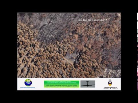 How do bush fires change our landscape - using airborne Lidar