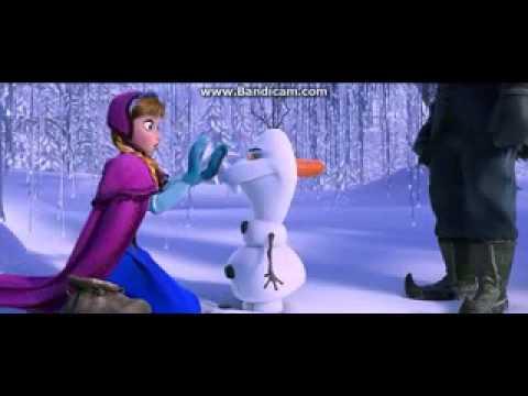 Frozen 2013 Scene-Meeting Olaf Clip