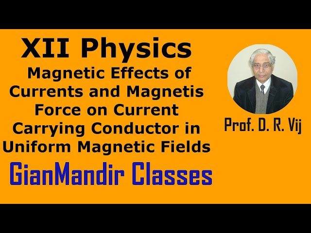 XII Physics | Force on Current Carrying Conductor in Uniform Magnetic Fields by Himanshu Sir