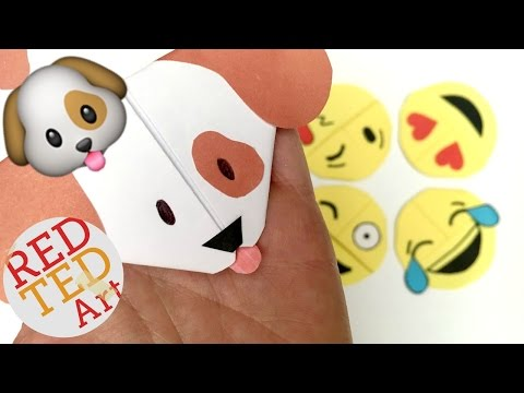 Easy emoji Puppy, Dog Bookmark DIY - Woof Woof! (Paper Crafts)