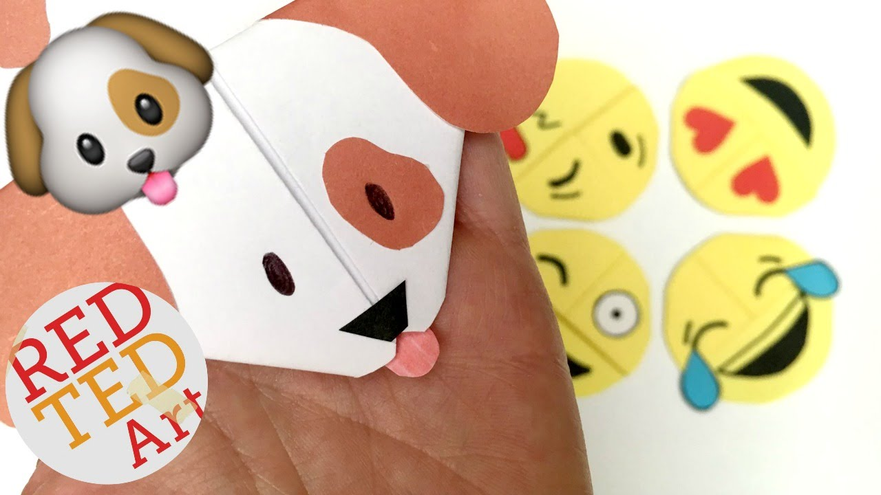Easy emoji puppy dog bookmark diy woof woof paper crafts youtube solutioingenieria Images