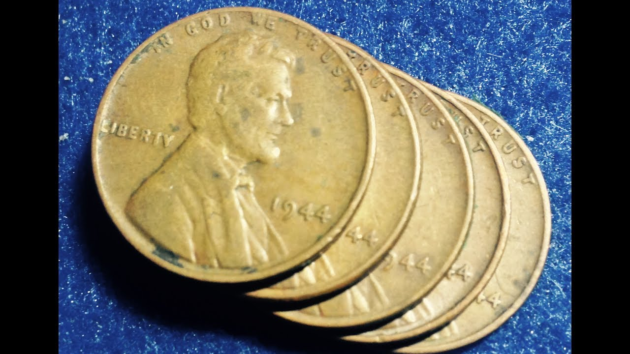 1944 No Mint Mark Wheat Penny - Highest Mintage Of All Wheaties