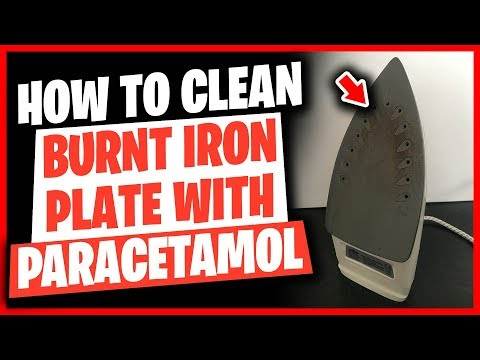 How To Clean Burnt Iron Plate With Paracetamol