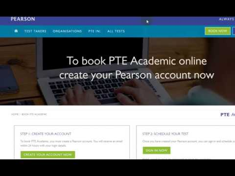 Step by Step Registration process for PTE Academic
