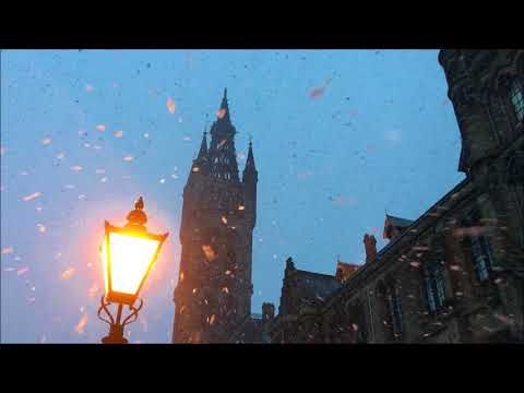 Gently falling snow - Glasgow University January 2017