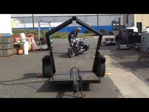 Hog Hauler Ultimate Motor Cycle Trailer  Loading