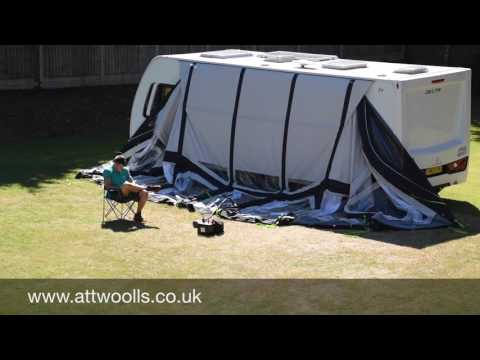 Kampa Frontier Air Pro Awning Pitching & Packing (with Electric Pump) Video (Real Time)