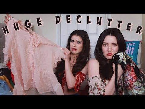 Sister Clears Out My Wardrobe! | Melanie Murphy & Jessie B