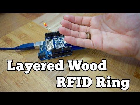 Layered Wood RFID Ring | Barb Makes Things #22