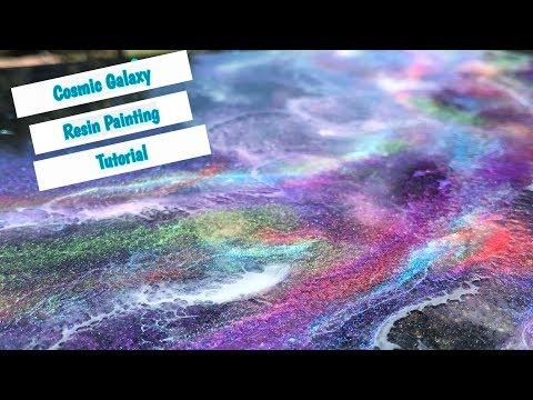 Resin Cosmic Galaxy Painting Tutorial
