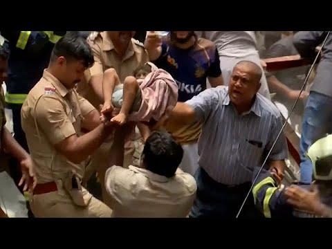 euronews (deutsch): Vierstöckiges Wohnhaus in Mumbai eingestürzt