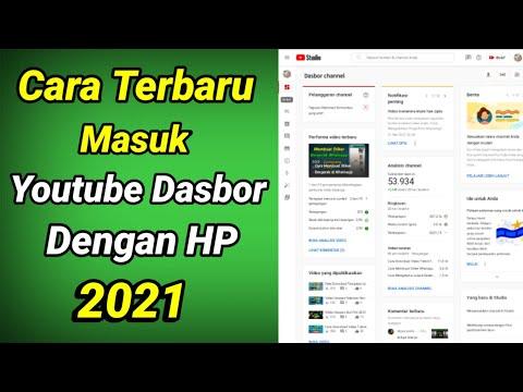 Cara Masuk Youtube Dashboard Lewat Browser di HP 2021