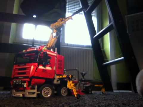 pr sentation de mon camion grue crane truck lego technic. Black Bedroom Furniture Sets. Home Design Ideas