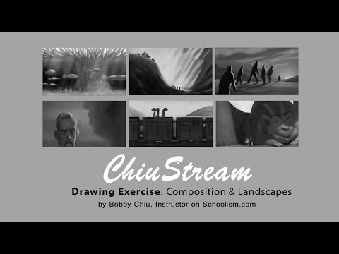 Drawing Exercise with Composition and Landscape