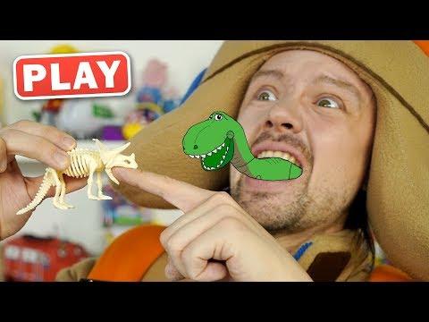 КукуPlay - Раскопки Динорзавры - Играем в Археологов - Поиграйка с Пилотом