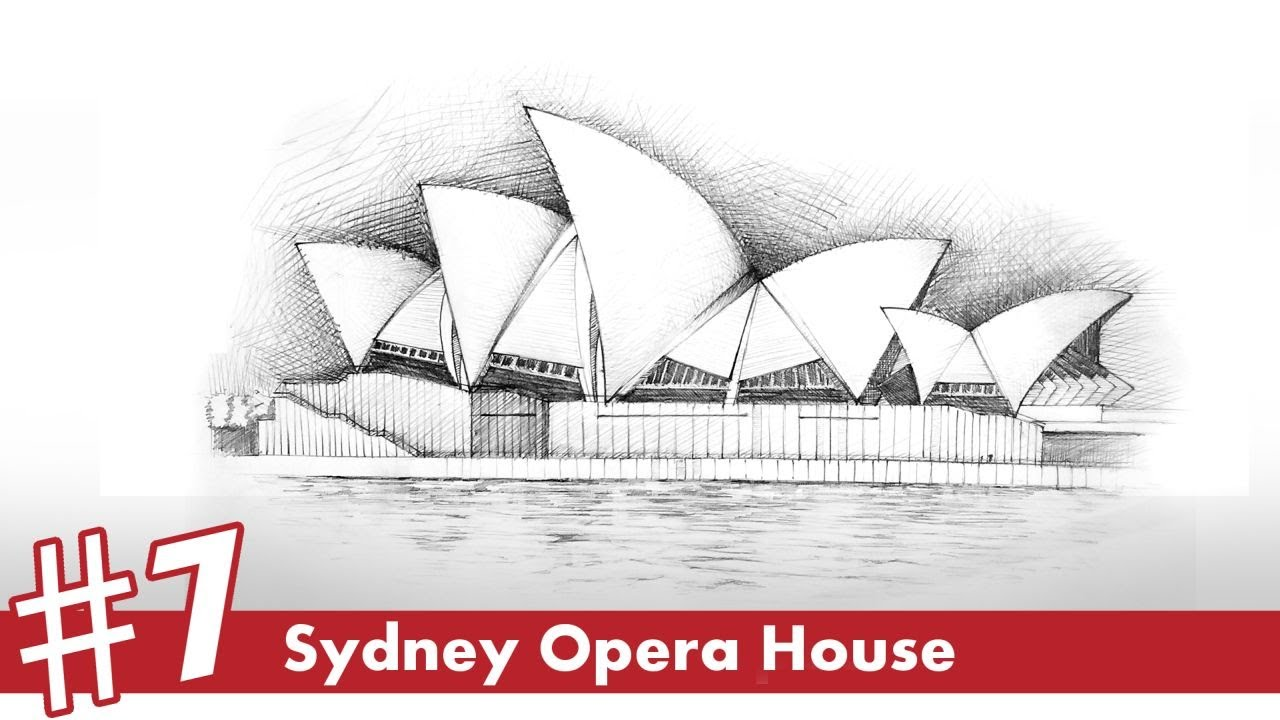 Sydney Opera House perspective drawing #7 | famous architecture - YouTube