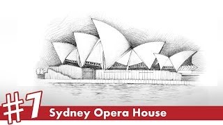 Sydney Opera House perspective drawing #7 | famous architecture