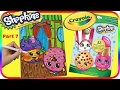 Part 7 - Shopkins Coloring Book D'lish Donut & Mini Muffin  - Washable Crayola Marker